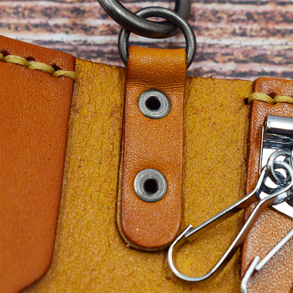 Men And Women Genuine Leather Retro Car Key Holder Key Bag