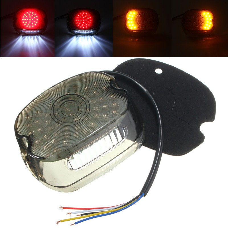 Smoke LED Tail Brake Turn Light For 91-10 Harley Sportster Softail Dyna Lay Down