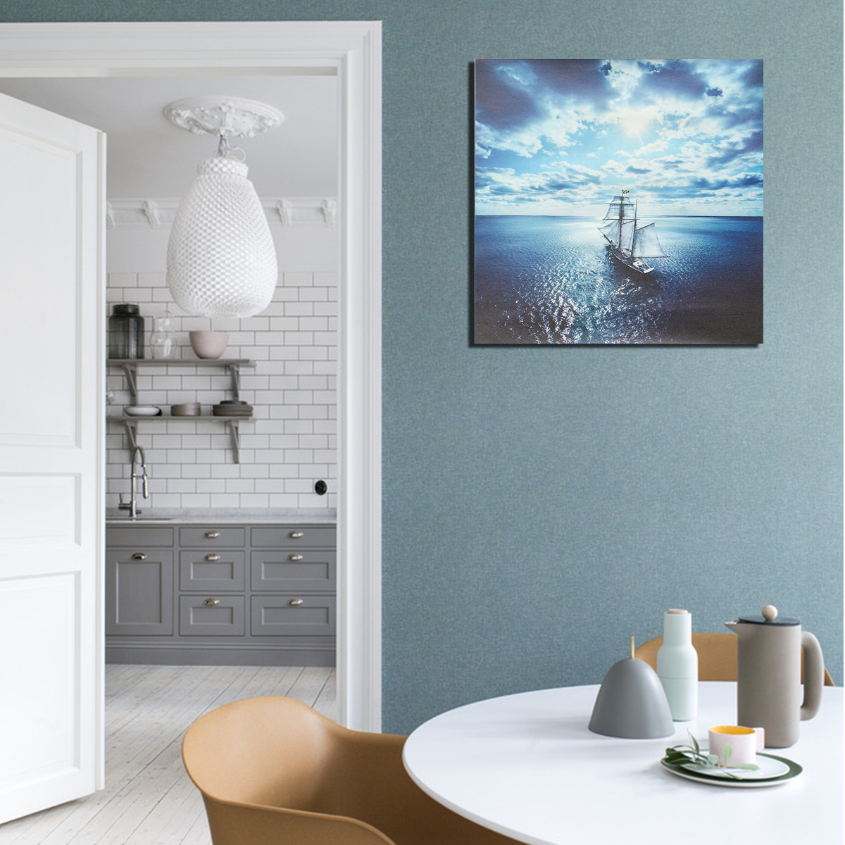 Sea Sailboat Canvas Picture Print Paintings Poster Unframed Wall Art Home Decor