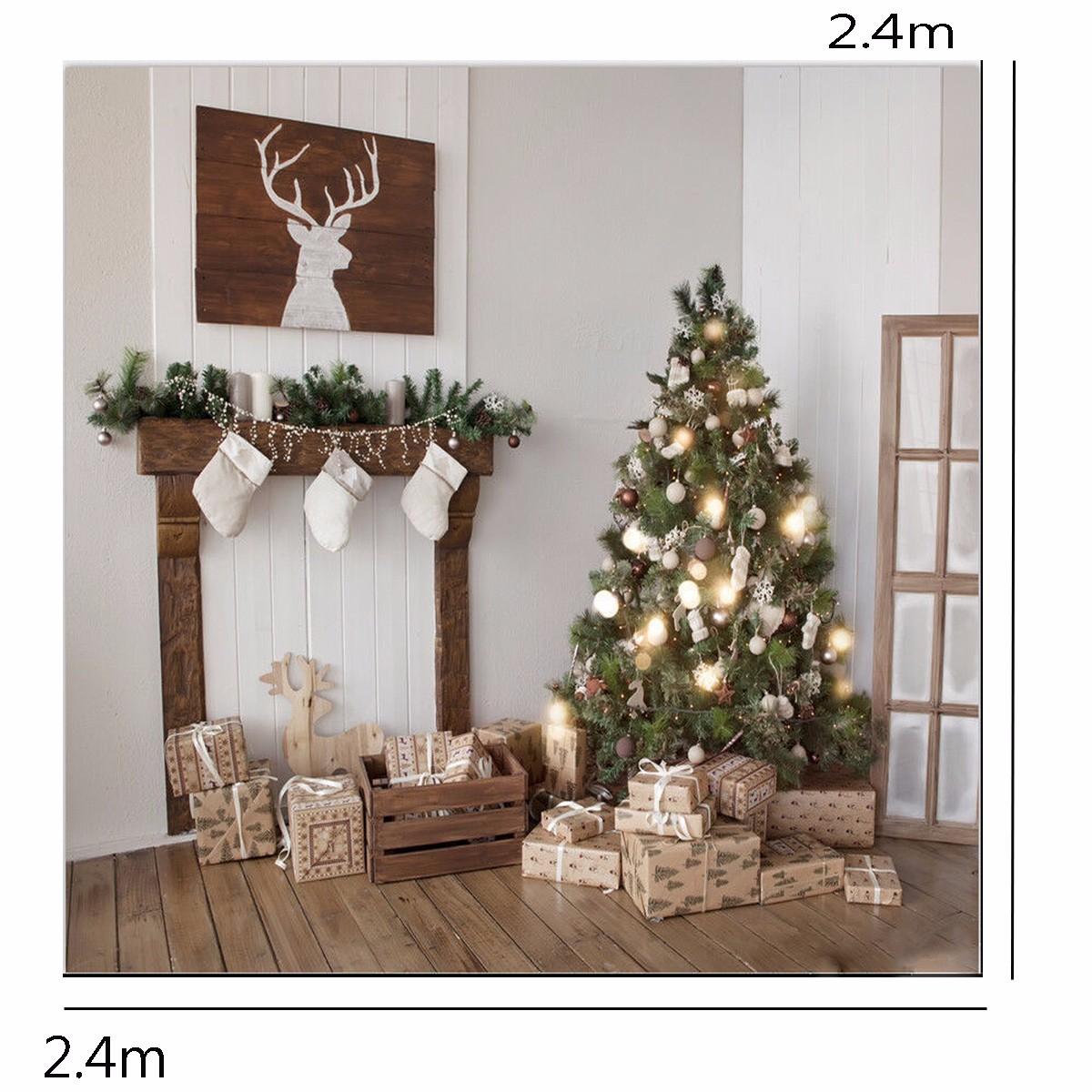 8X8FT Christmas Custom Photography Background Square Backdrop Studio Prop 2.4mx2.4m