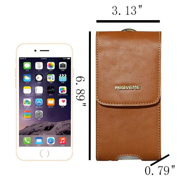 FLOVEME Belt Clip PU Leather Outdoors Phone 5.5 Clutches Bag