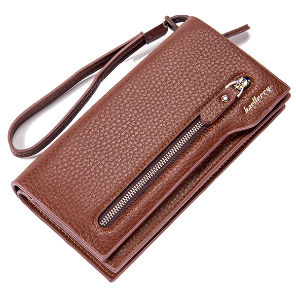 Details: Material Microfiber PU Leather Color Black, Brown, Coffee Weight 220g Length 19.8cm(7.80') Height 10cm(3.94') Width 3.5cm(1.38') Pattern Solid Structure 11 Card Slots, Zipper Coin Pocket, Photo Holder, Main Compartment, Phone Pocket Closure Zippe #purse
