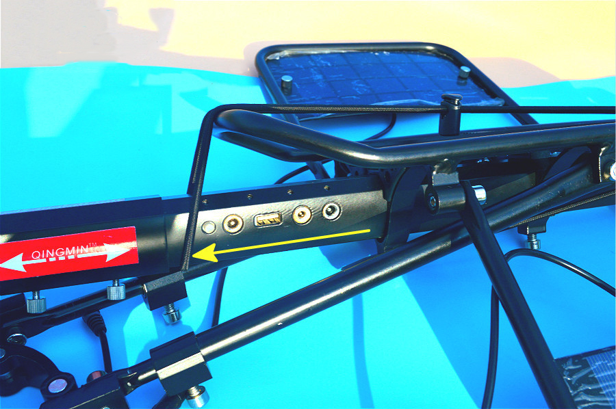 BIKIGHT Aluminum Alloy Bicycle Racks Solar Charge Built-in USB Interface Cycling Rear Seat Luggage