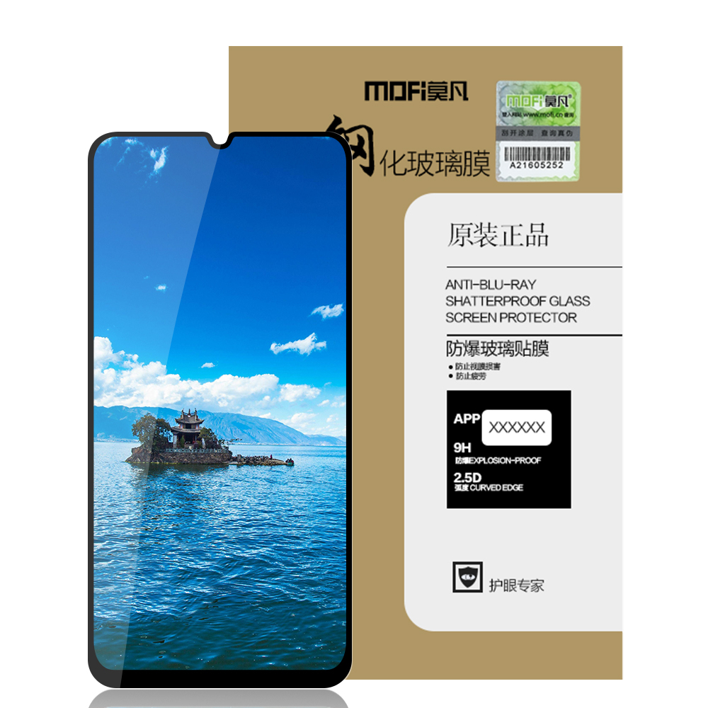 Bakeey Magnetic Adsorption Aluminum Alloy Tempered Glass Protective Case + Mofi 2.5D AGC Tempered Glass Screen Protector For Samsung Galaxy A50 2019