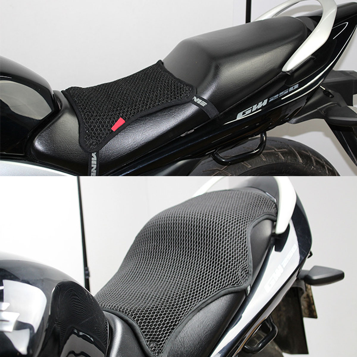S/M/L/XL 3D Honeycomb Universal Motorcycle Cool Seat Cover Mesh Cushion Breathable Pad