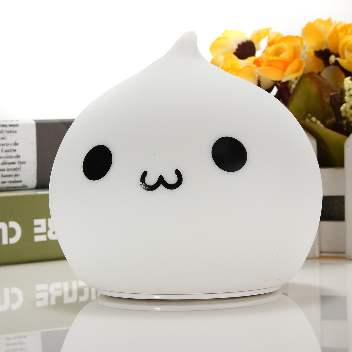 7 Color Changeable USB LED Silicone Soft Waterdrop Night Light Lamp for Baby Children