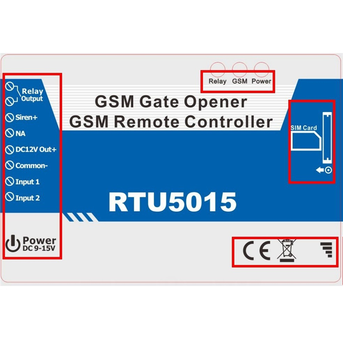 RTU5015 Android App Automatic GSM Gate Opener Switch Remote Access Control Roller Gate Opener