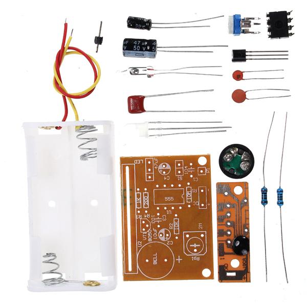3Pcs DIY Touch Vibration Alarm Kit Electronic Training Teaching