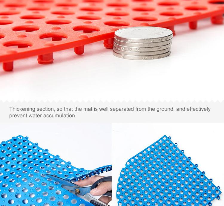 Solid PVC Handmade Stitching Hollow Non-slip Floor Mat Bathroom Toilet Supply DIY Mats