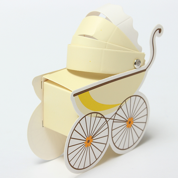 1Pcs Stroller Shape Candy Box Wedding Favors Baby Shower Birthday Party Gift Boxes