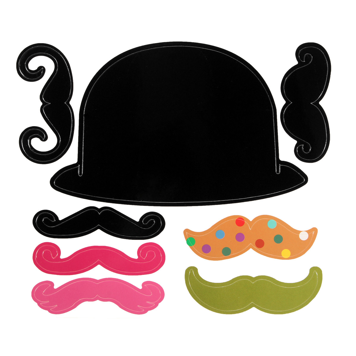 62PCS Photo Mustache Stick Booth Wedding Prop Welcome Mask Props Wedding Party Decoration