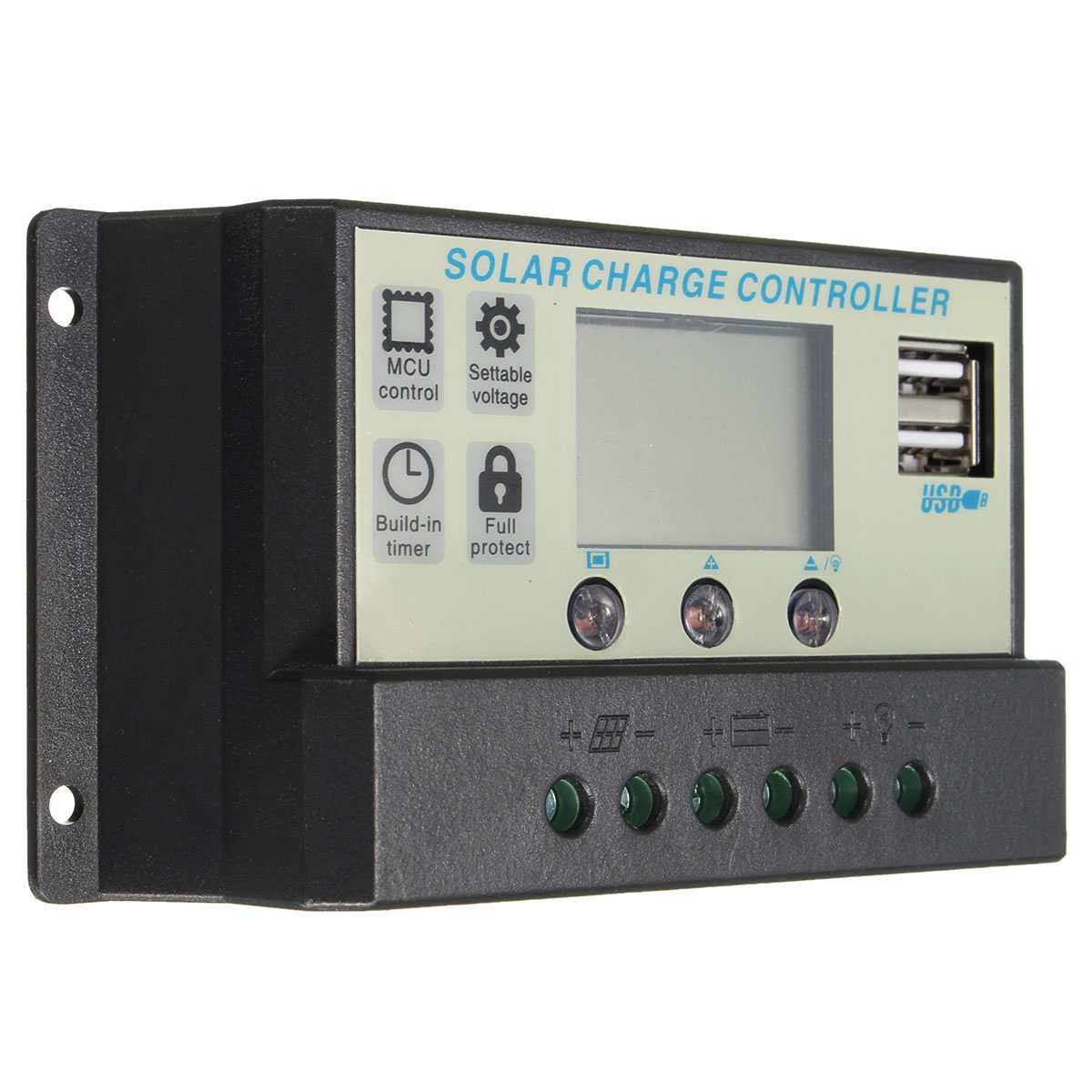 10/20A 12/24V Auto Solar Panel Battery Regulator Charge Controller PWM Battery Charging