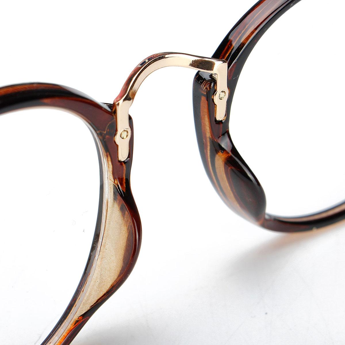 Unisex Vintage Clear Lens Eyeglasseess Round Frame Glasses