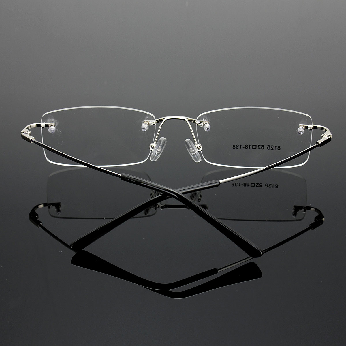 Unisex Rimless Glasses Retro Clear Memory Optical Eyeglassee