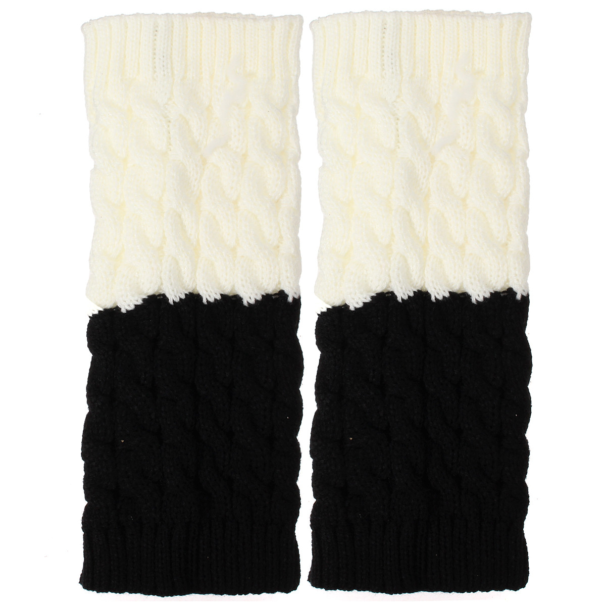 Women Ladies Knitted Thigh High Leg Warmers Socks Winter Boot Short Cuff Socks