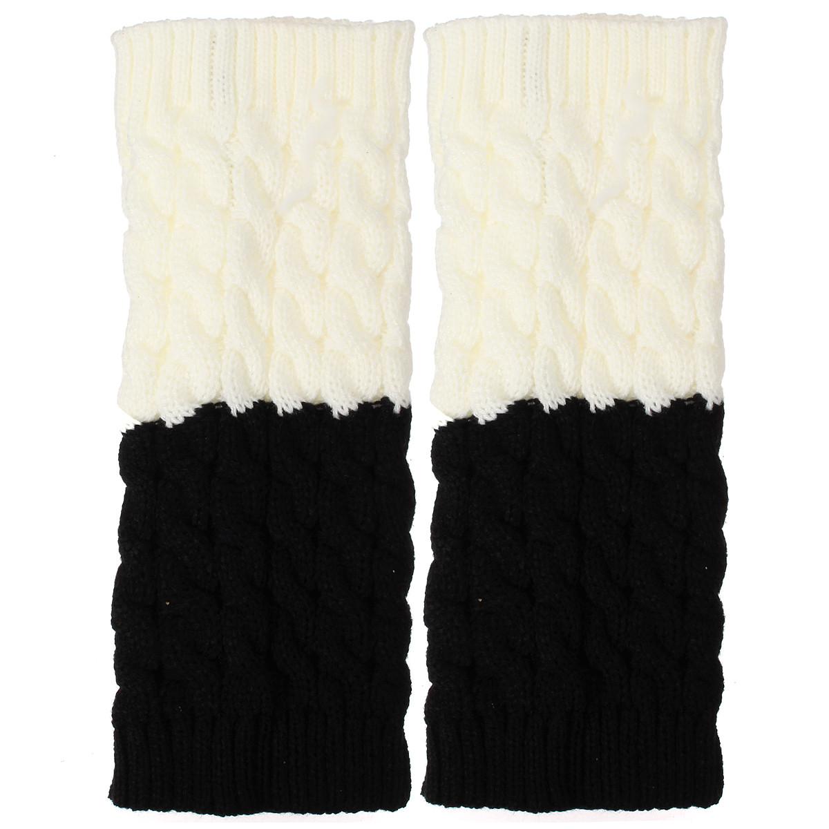 Women Ladies Knitted Thigh High Leg Warmers Socks Winter Boot Short Cuff Socks