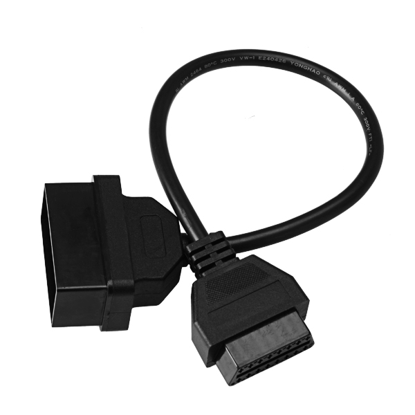 22 Pin to 16Pin OBD1 to OBD2 Cable Diagnostic Wire for Toyota