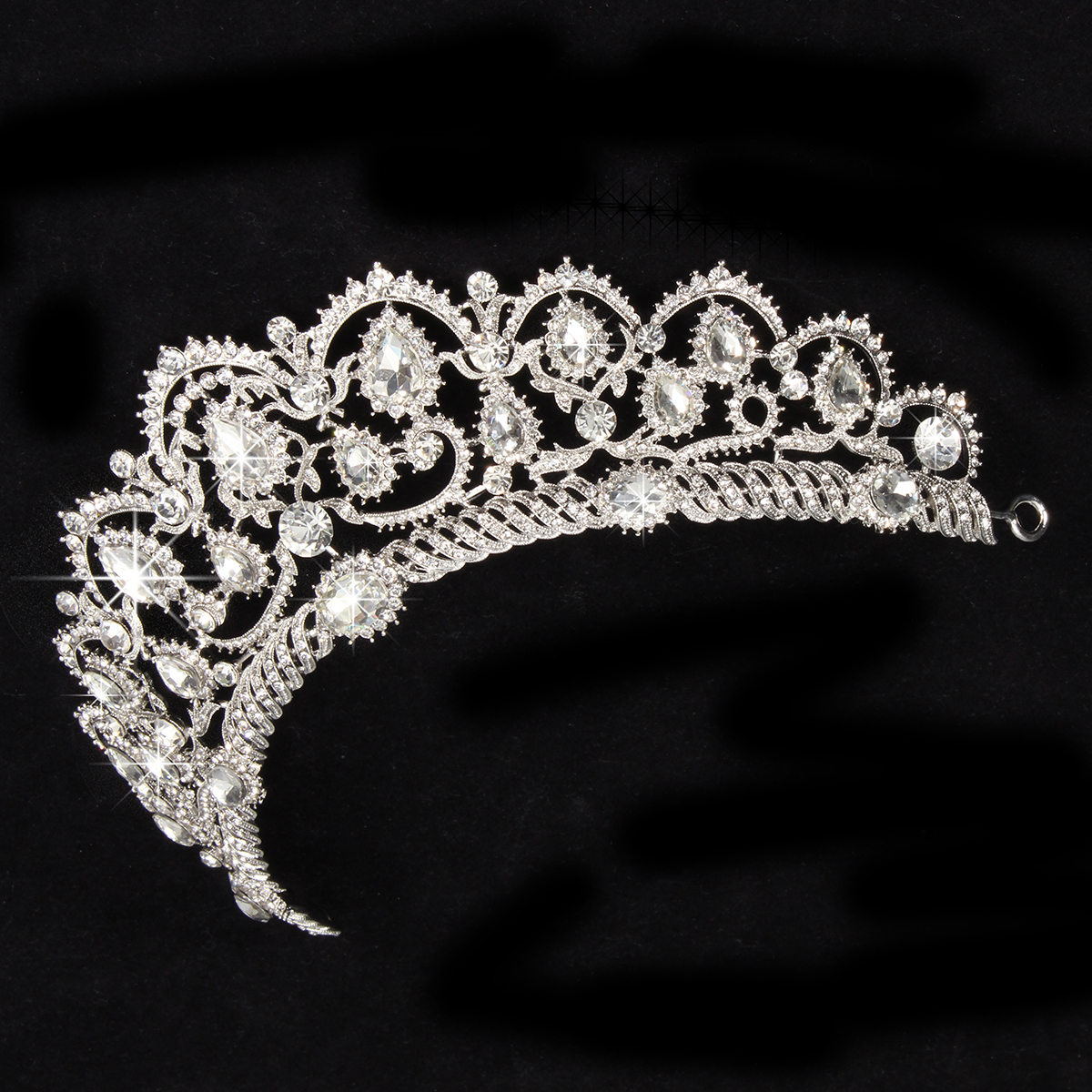 Bride Rhinestone Crystal Princess Queen Crown Tiara Head Jewelry Headpiece Wedding Party Headbrand