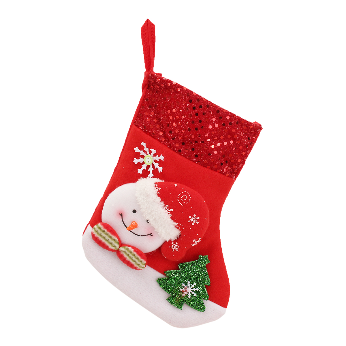 Christmas Gift Socks Bags Santa Claus Snowman Pattern Fleece Hanging Stockings For Tree Decoration