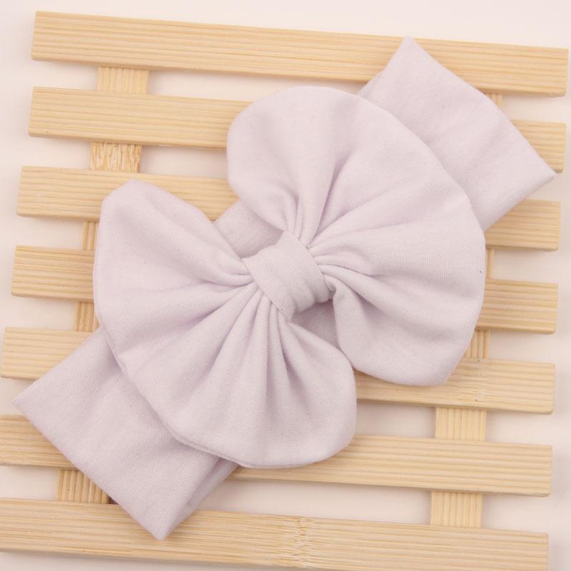Girls Kids Baby Toddler Bowknot Bow Headbrand Soft Elastic Sweet Hair Wear Wrap Turban Accessories