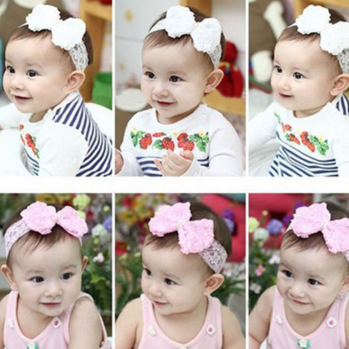 Baby Headbrand Cute Baby Girl Kid Infant Flower Pearl Lace Hairdress