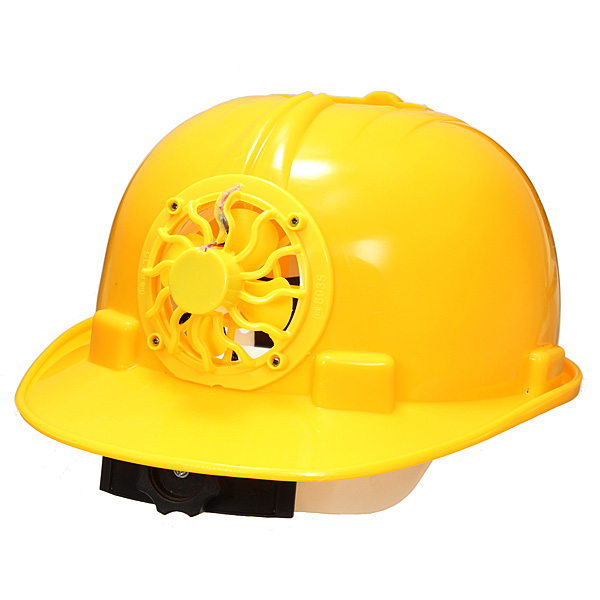 Solar Powered Safety Helmet Hard Ventilate Hat with Cooling Cool Fan (Eachine1) Louisville Ad b.