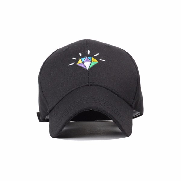 Unisex Men Women Diamond Embroidery Baseball Cap Adjustable Strap Back Trucker Hats