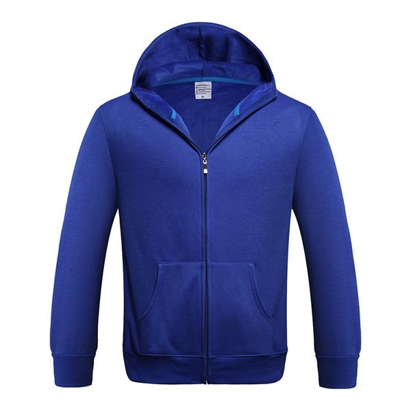 Basic Style Mens Hoodies Casual Zip Fleece Sportswear Solid Color Warm Tracksuit