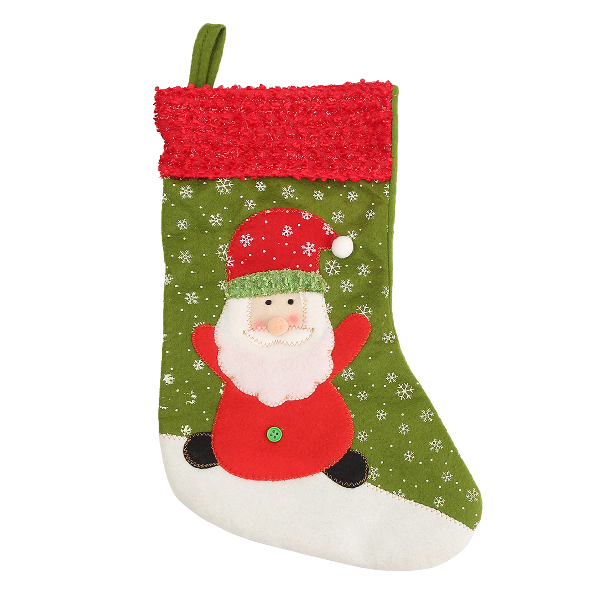 Christmas Gift Socks Bags Santa Claus Snowman Fabric Hanging Stockings Tree Decoration