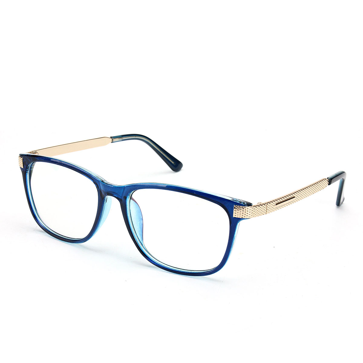Unisex Women Men Retro Eyeglasses Frame Full-Rim Clear Lens Metal Plain Glasses