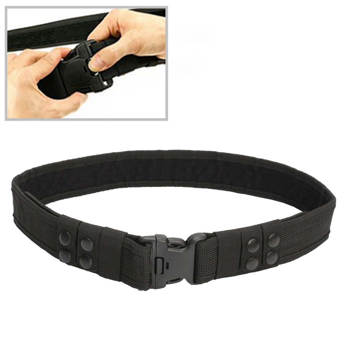 Men Heavy Duty Security Utility Belt Guard Paramedic Army Police Nylon Waistband