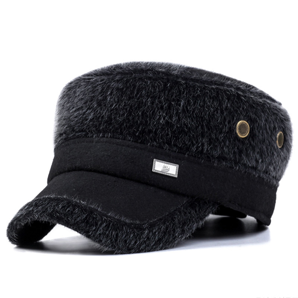 Unisex Imitation Mink Fur Earflap Ear Muffs Baseball Cap Adjustable Faux Fur Outdoor Military Hat