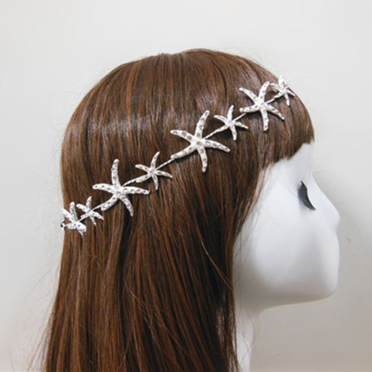 Starfish Crystal Rhinestone Bridal Tiara Crown Headbrand Hair Band Wedding Prom Accessories