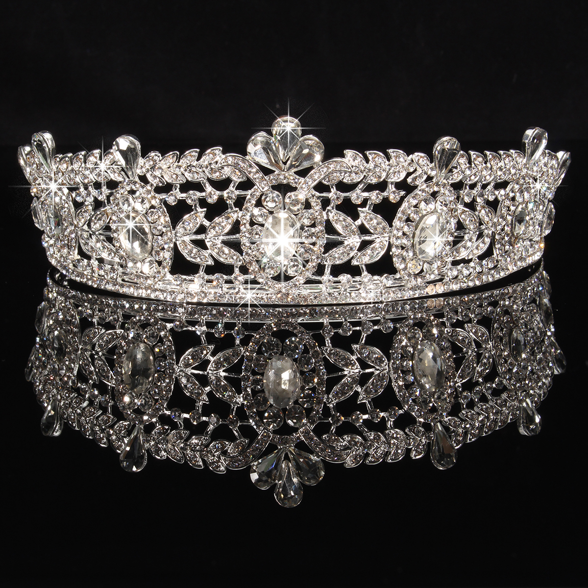 Bride Rhinestone Crystal Princess Queen Crown Tiara Head Jewelry Wedding Party Prom Headpiece
