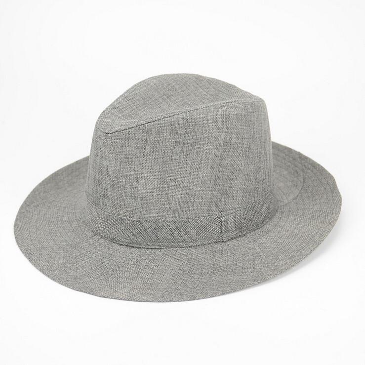 Unisex Men Women Straw Floppy Fedora Hat Derby Beach Trilby Panama Hat