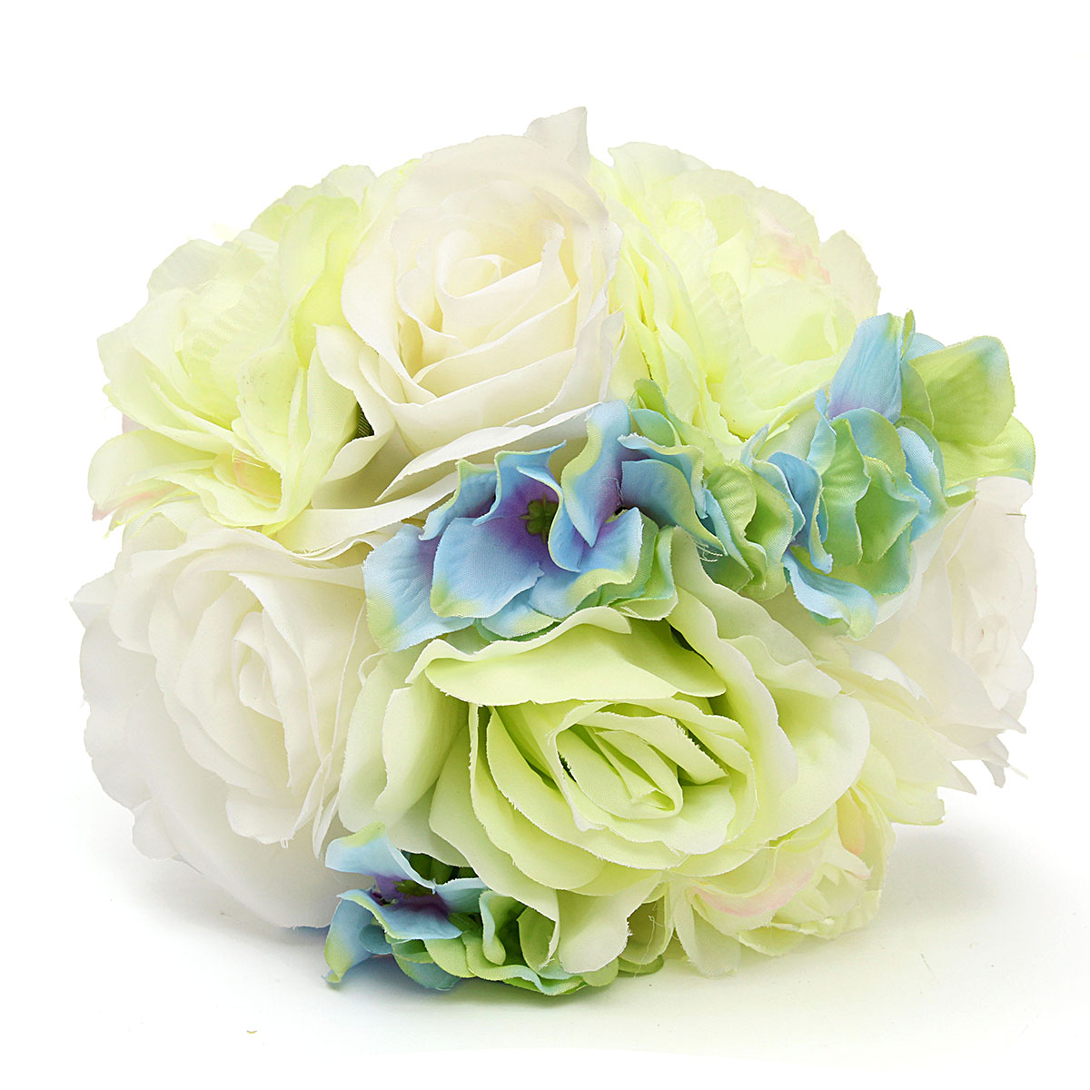 Bride Artificial Silk Rose Hydrangea Camellia Bouquet Flower Girl Wedding Party Decoration
