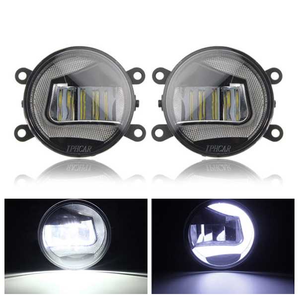 3.5 LED Car Angel Eye Halo Ring DRL Fog Lights w/ U-Typ