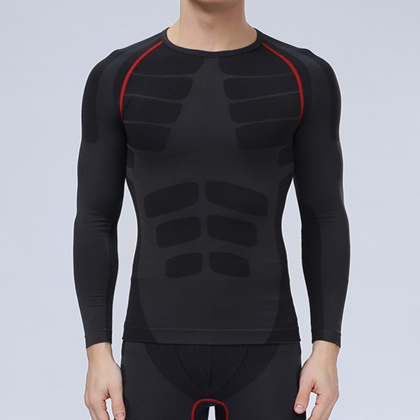 Long Sleeve Mens Professional Compression Tights Quick Dry Sports Breathable Bodybuilding Sportswear
