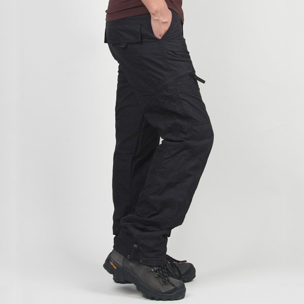 Mens Winter Outdoor Sports Trousers Military Tactical Thick Warm Cargo Pants