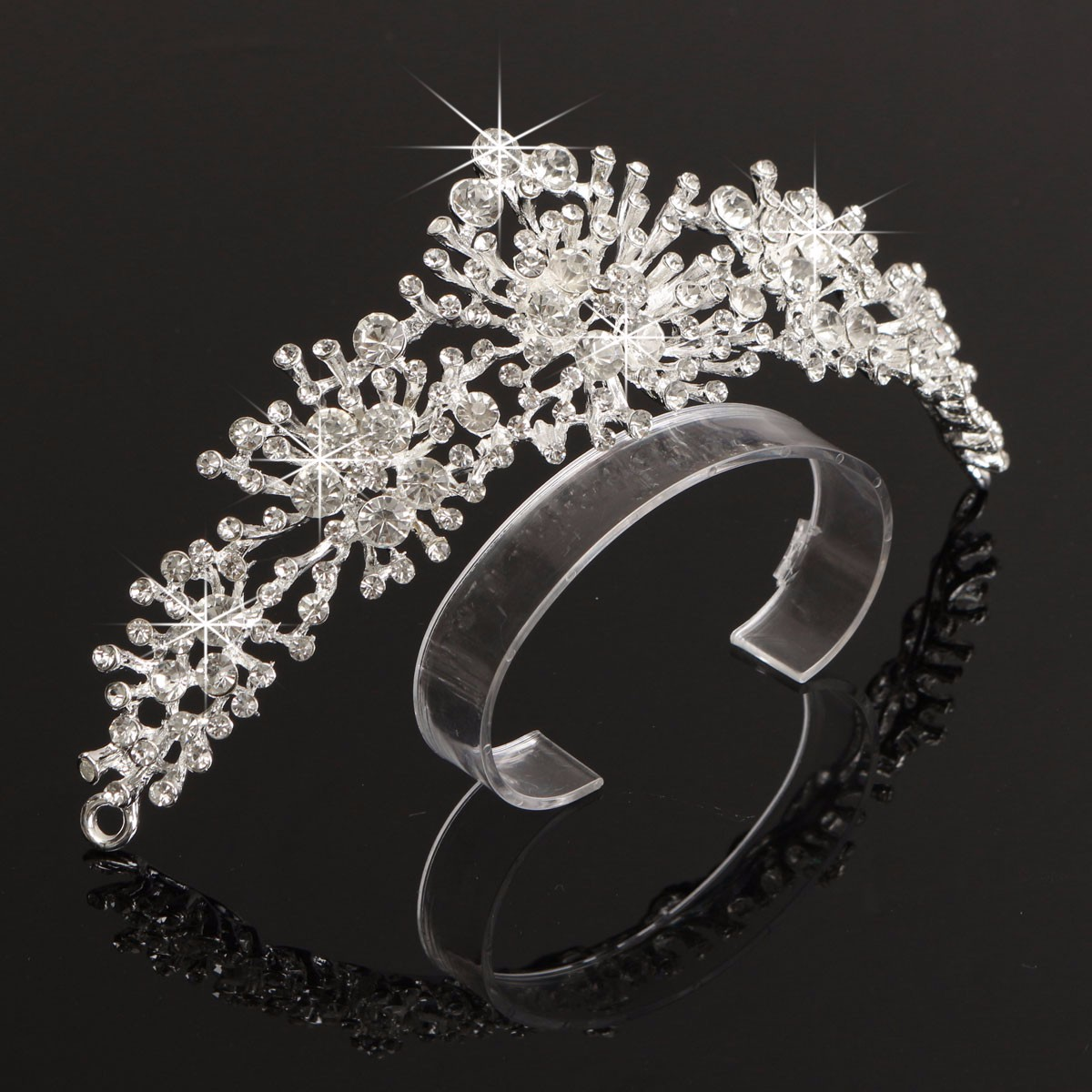 Bride Rhinestone Crystal Tiara Crown Bridal Wedding Headpeice Hair Accessories