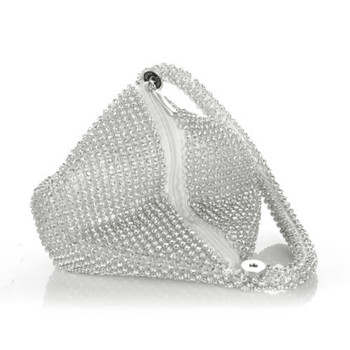 Women Triangle Full Rhinestones Evening Clutch Bag Party Prom Wedding Purse Handbag