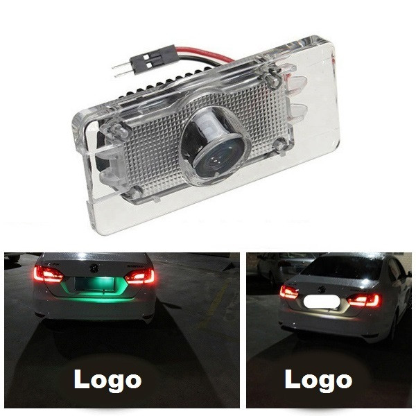 LED Laser Car License Number Plate Light Shadow Logo Projector Light for VW 5W