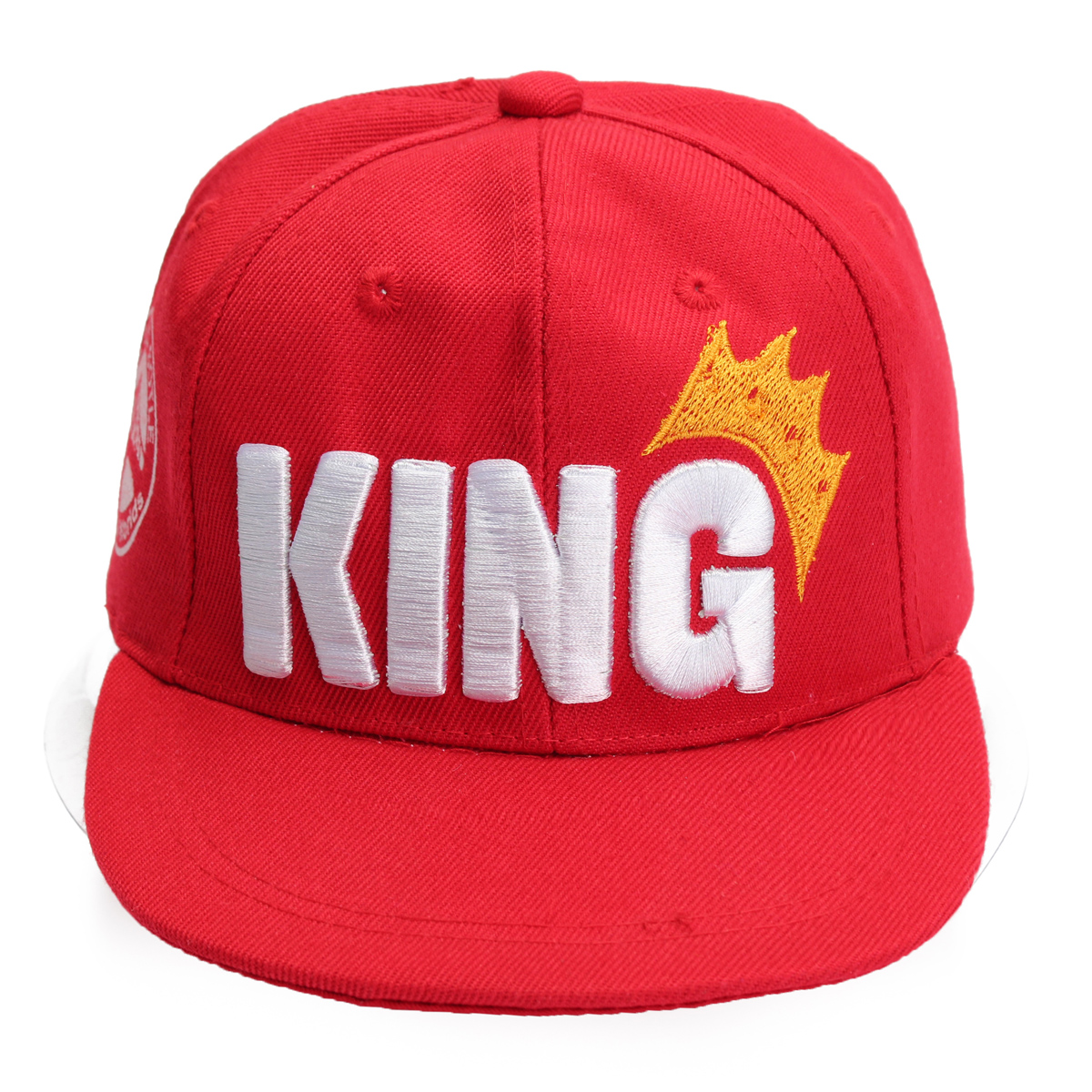 Children King Crown Flat Brimmed Baseball Cap Adjustable Embroidered Boy&Girl Hip-hop Hat Snapback