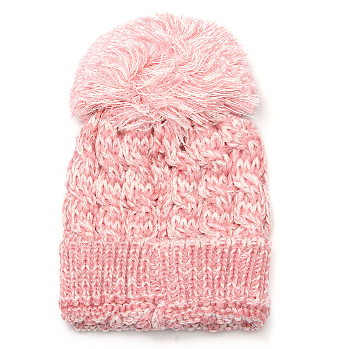 Toddler Children Candy Color Knitting Pom Beret Beanie Hat Cute Knitted Crochet Cap
