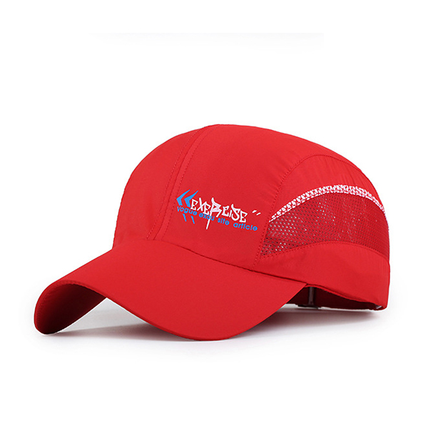 Unisex Polyester Quick Dry Mesh Baseball Cap Breathable Outdoor Sport Adjustable Buckle Hat