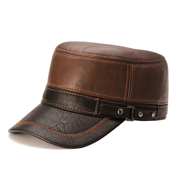 Unisex PU Leather Earflap Ear Muffs Baseball Cap