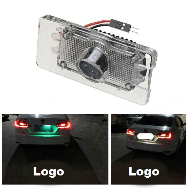 Car LED Laser Shadow Logo Projector Welcome Warning Light For Audi