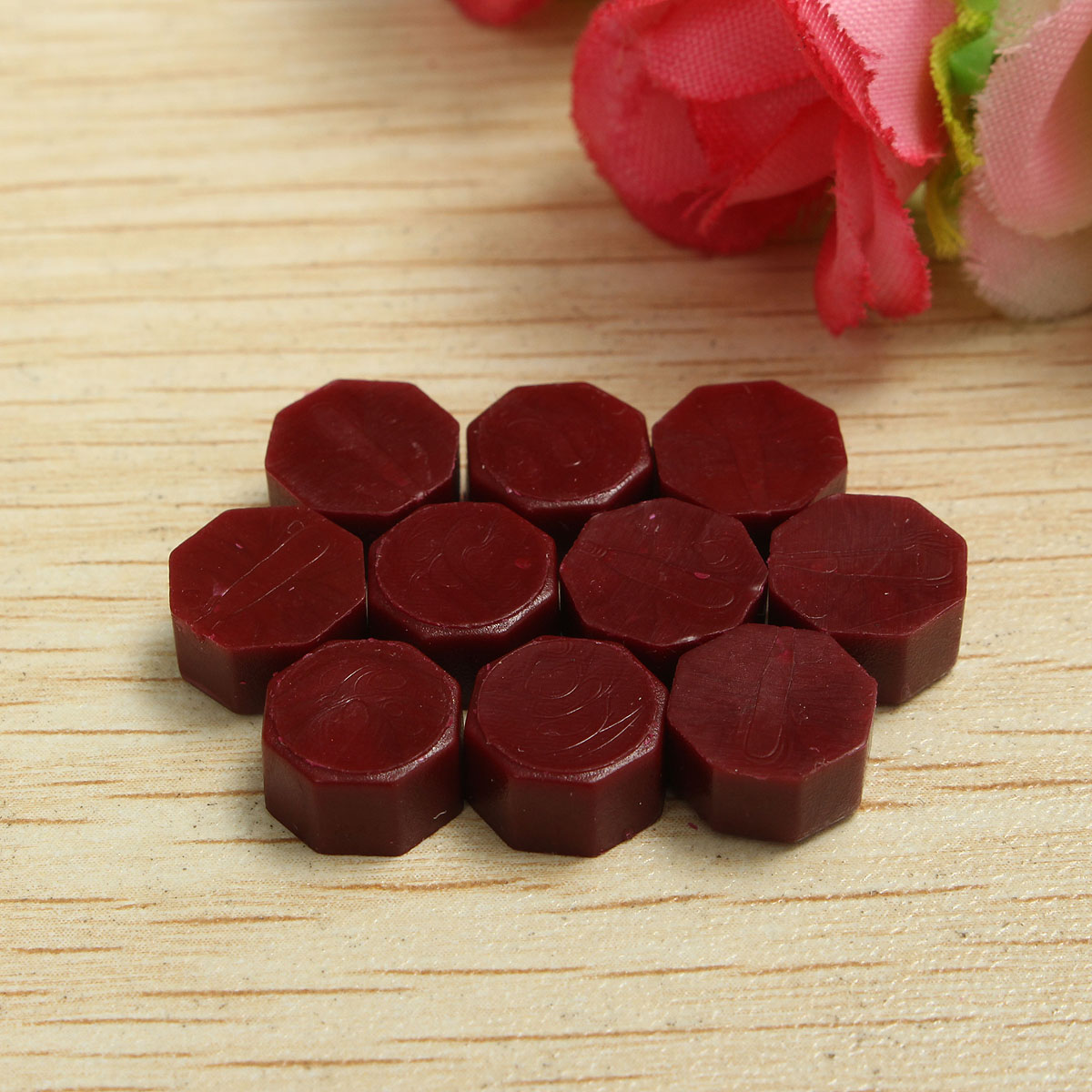 50Pcs Red Wax Beads Vintage Sealing Wax Tablet Pill Beads Granule For Wedding Jewelry Envelope