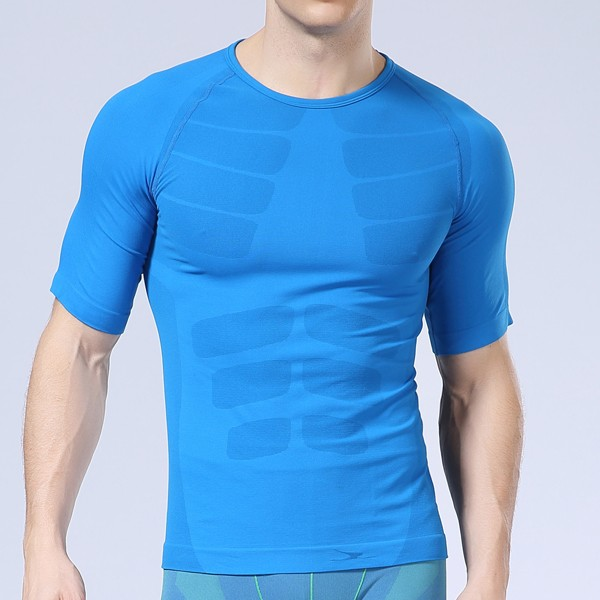 Short Sleeve Mens Professional Compression Tights Quick Dry Sports Breathable Bodybuilding Sportswear