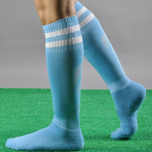Mens Knee High Stocking Sport Football Striped Long Socks Countries Style